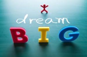 I dream big concept