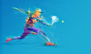 tennis player abstract