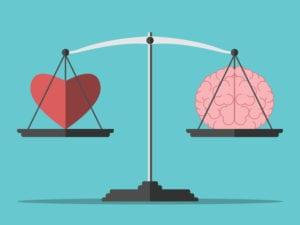 brain heart seesaw